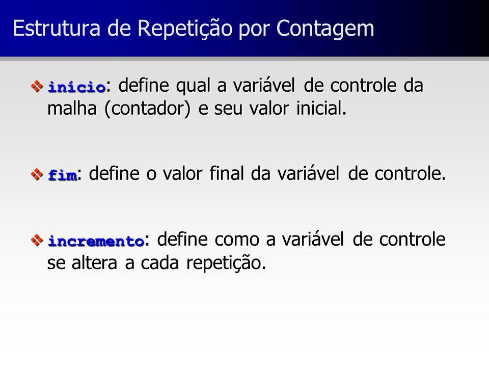 Estrutura de Repetição por Contagem
