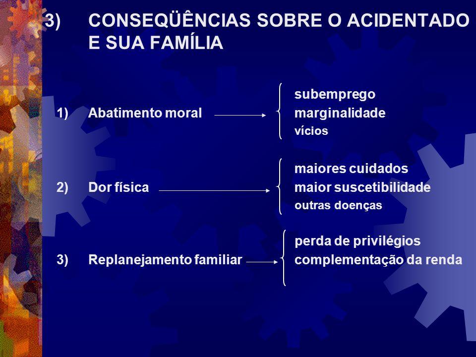3) CONSEQÜÊNCIAS SOBRE O ACIDENTADO E SUA FAMÍLIA