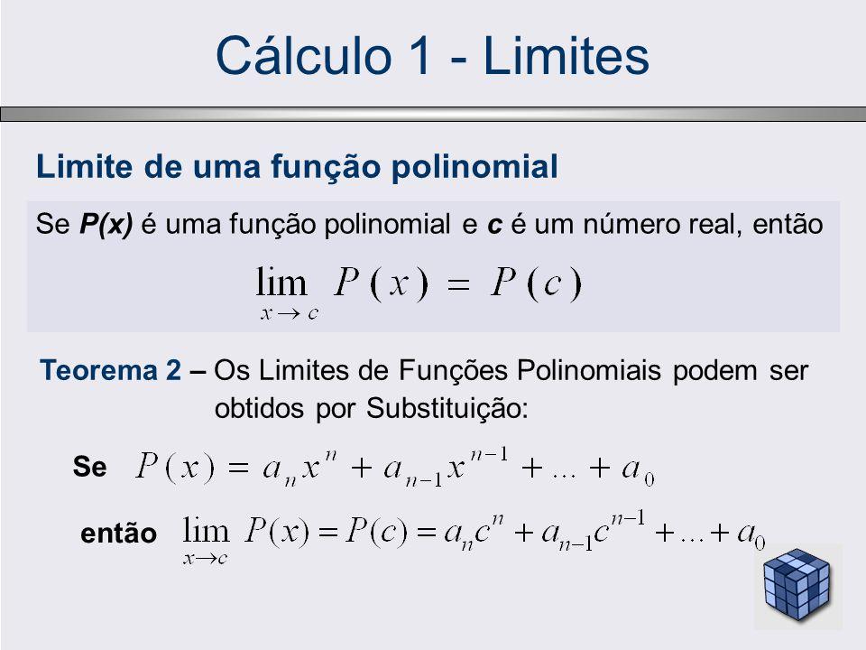 Cálculo 1 - Limites Limite de uma função polinomial