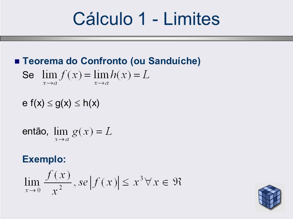 Cálculo 1 - Limites Teorema do Confronto (ou Sanduíche) Se