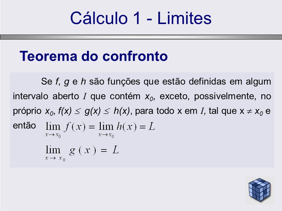 Cálculo 1 - Limites Teorema do confronto então