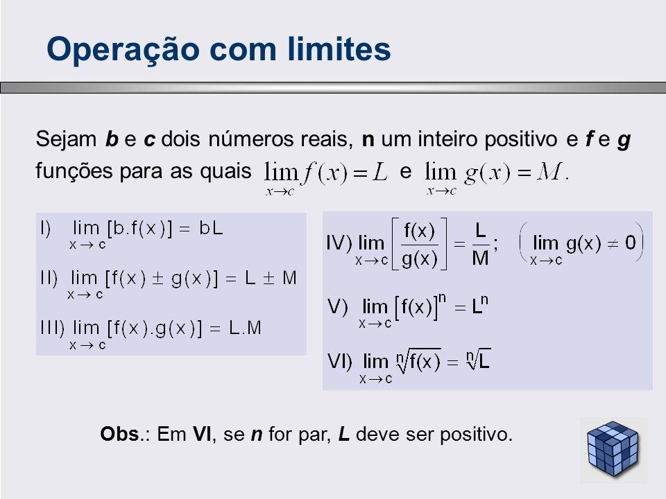 Obs.: Em VI, se n for par, L deve ser positivo.
