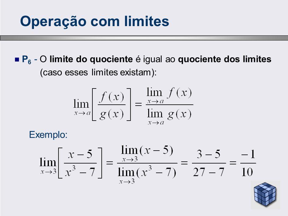 Operação com limites Exemplo: