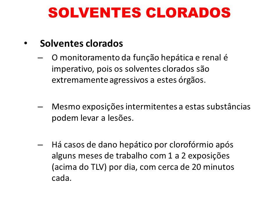 SOLVENTES CLORADOS Solventes clorados