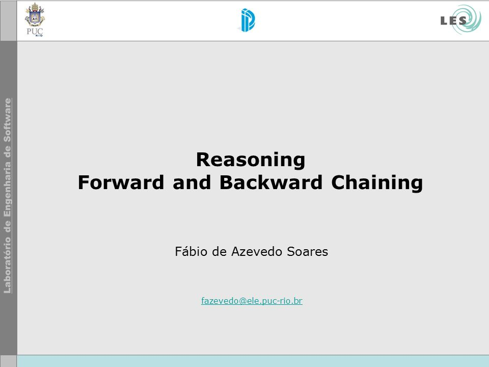 Reasoning Forward and Backward Chaining