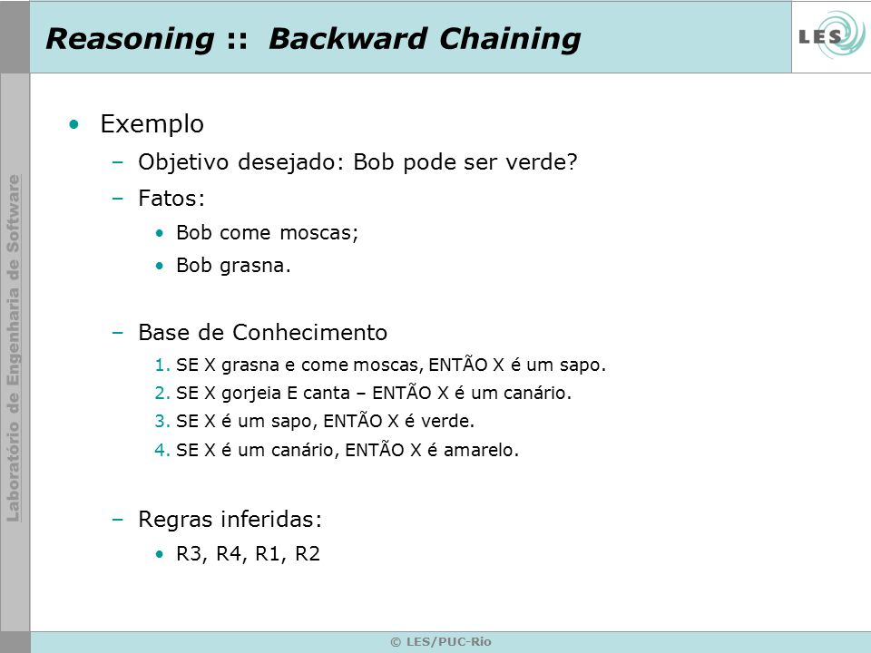 Reasoning :: Backward Chaining
