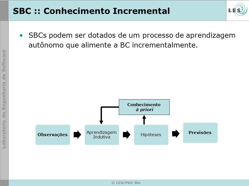 SBC :: Conhecimento Incremental