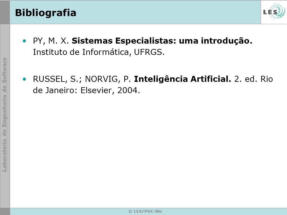 Bibliografia PY, M. X. Sistemas Especialistas: uma introdução. Instituto de Informática, UFRGS.