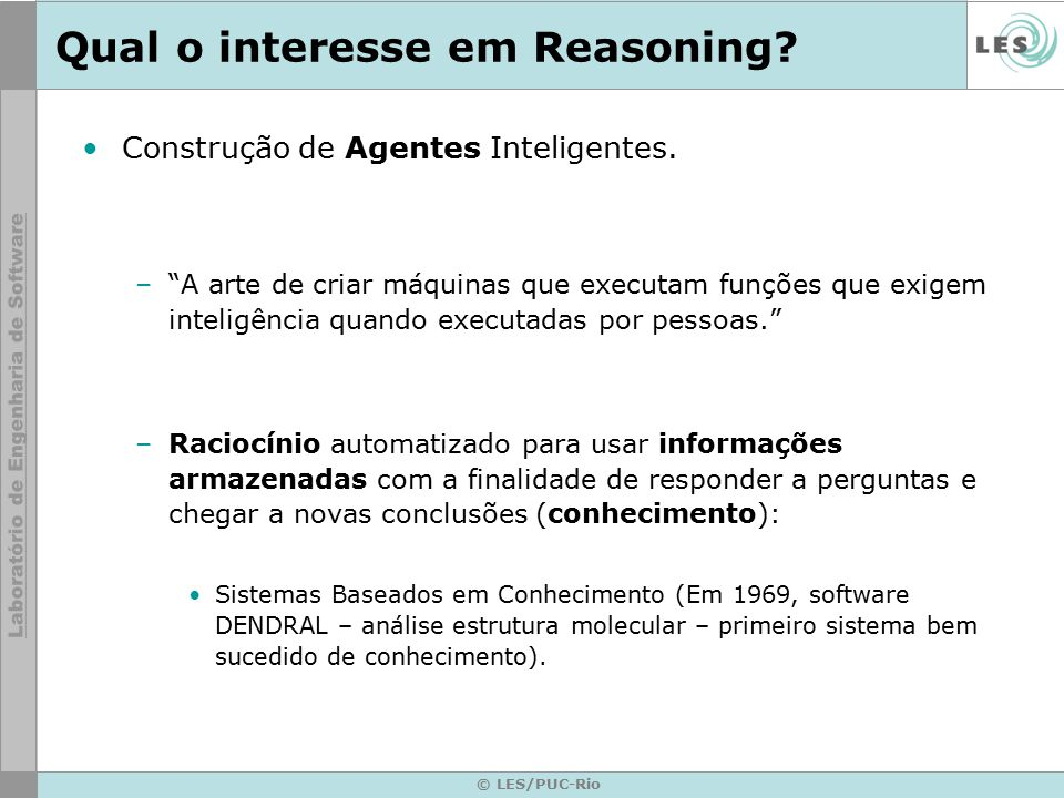 Qual o interesse em Reasoning