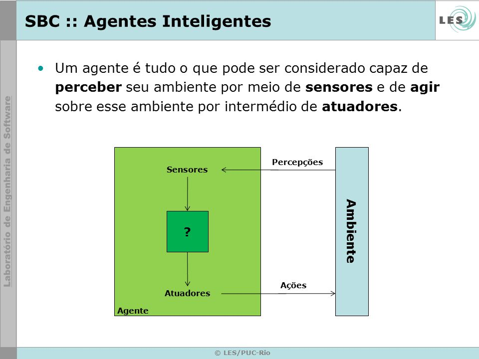 SBC :: Agentes Inteligentes