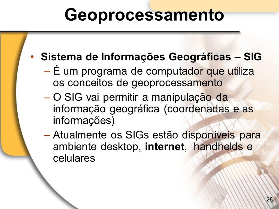 Geoprocessamento Sistema de Informações Geográficas – SIG