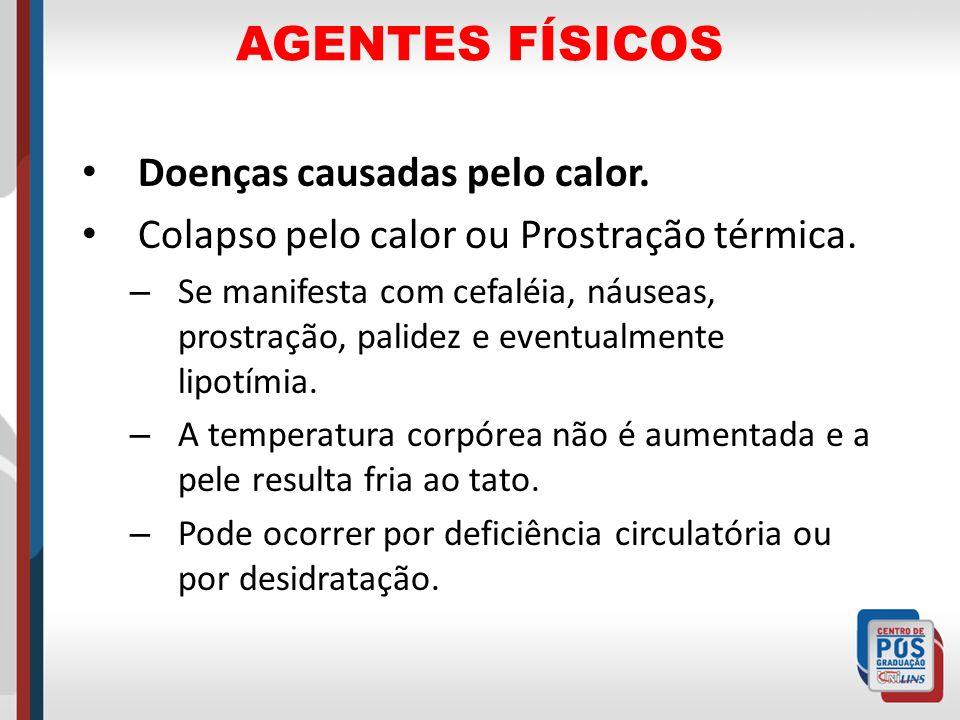AGENTES FÍSICOS Doenças causadas pelo calor.