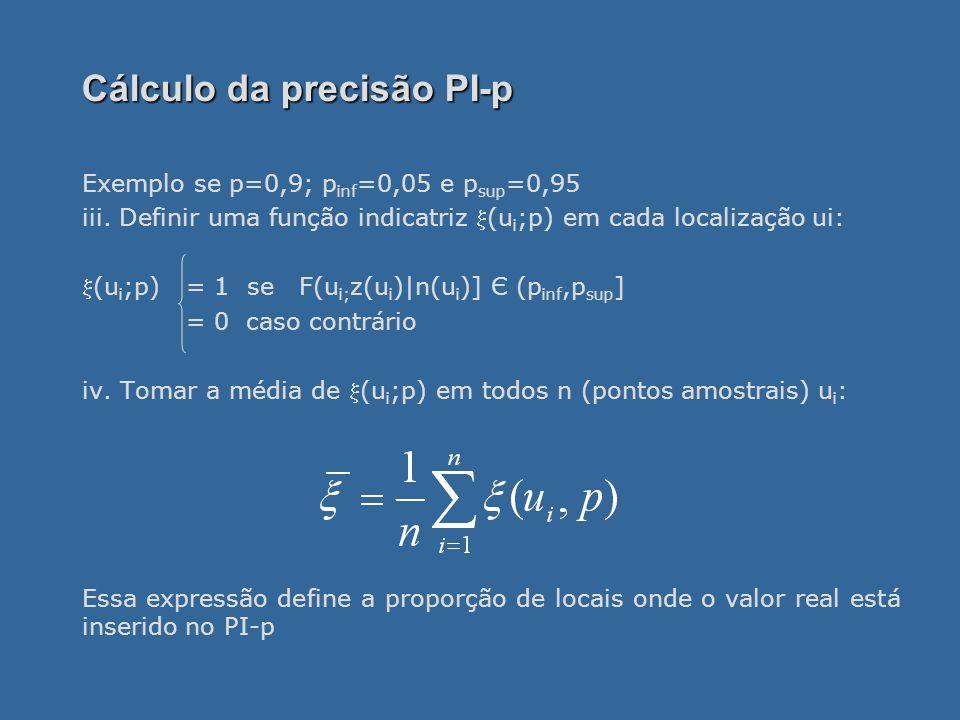 Cálculo da precisão PI-p
