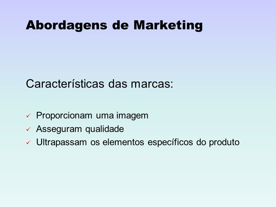 Abordagens de Marketing