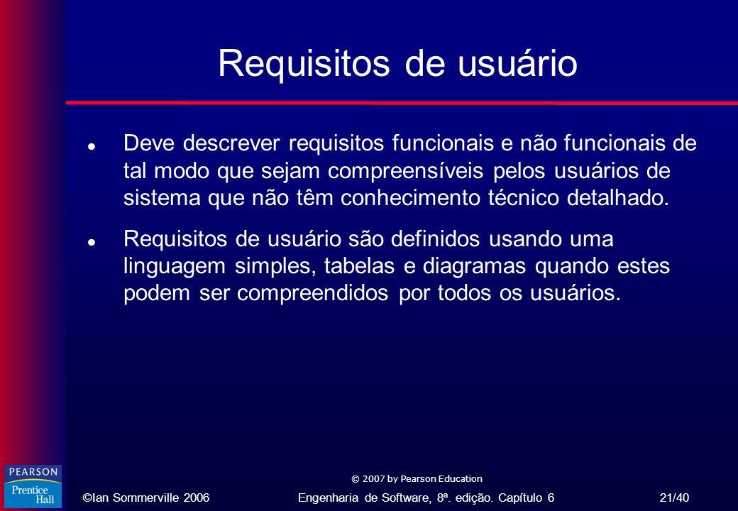 Requisitos de usuário
