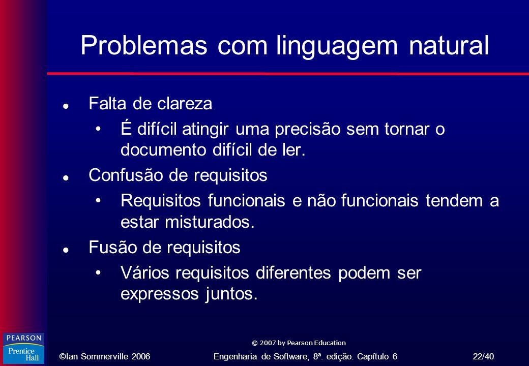 Problemas com linguagem natural