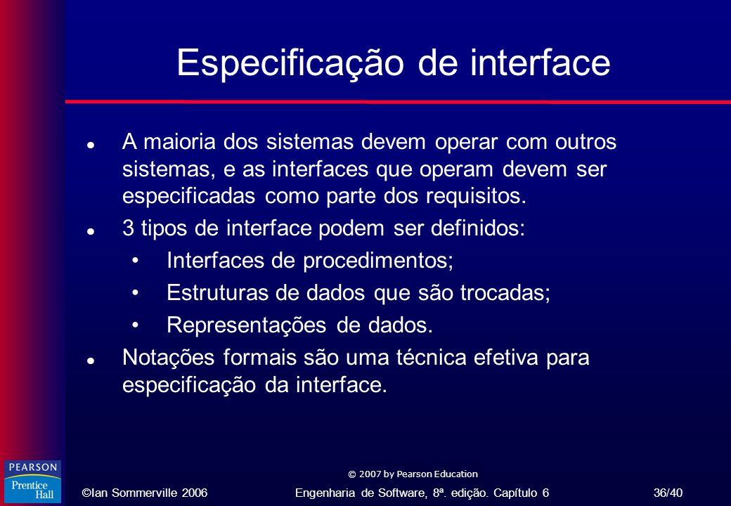 Especificação de interface
