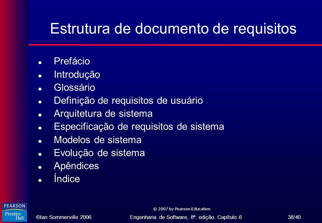 Estrutura de documento de requisitos