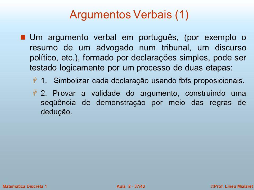 Argumentos Verbais (1)