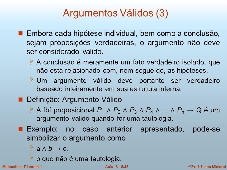 Argumentos Válidos (3)