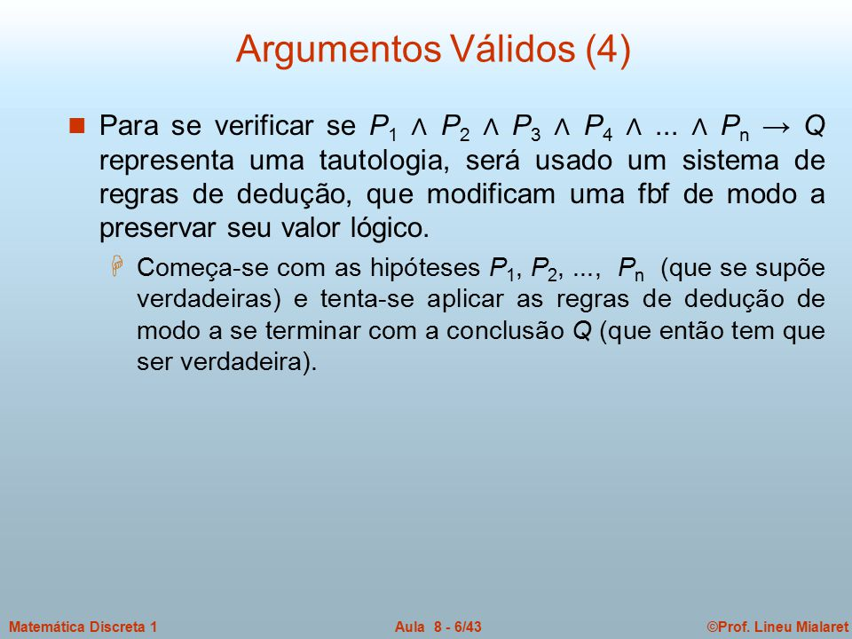 Argumentos Válidos (4)