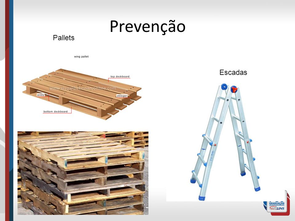 Prevenção Pallets Escadas
