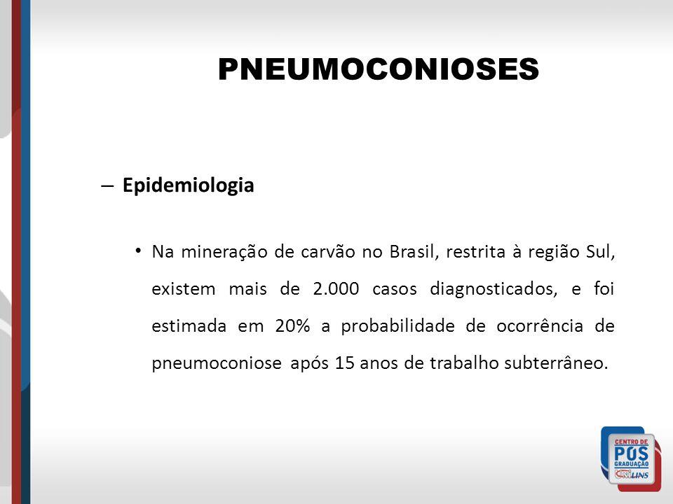 PNEUMOCONIOSES Epidemiologia