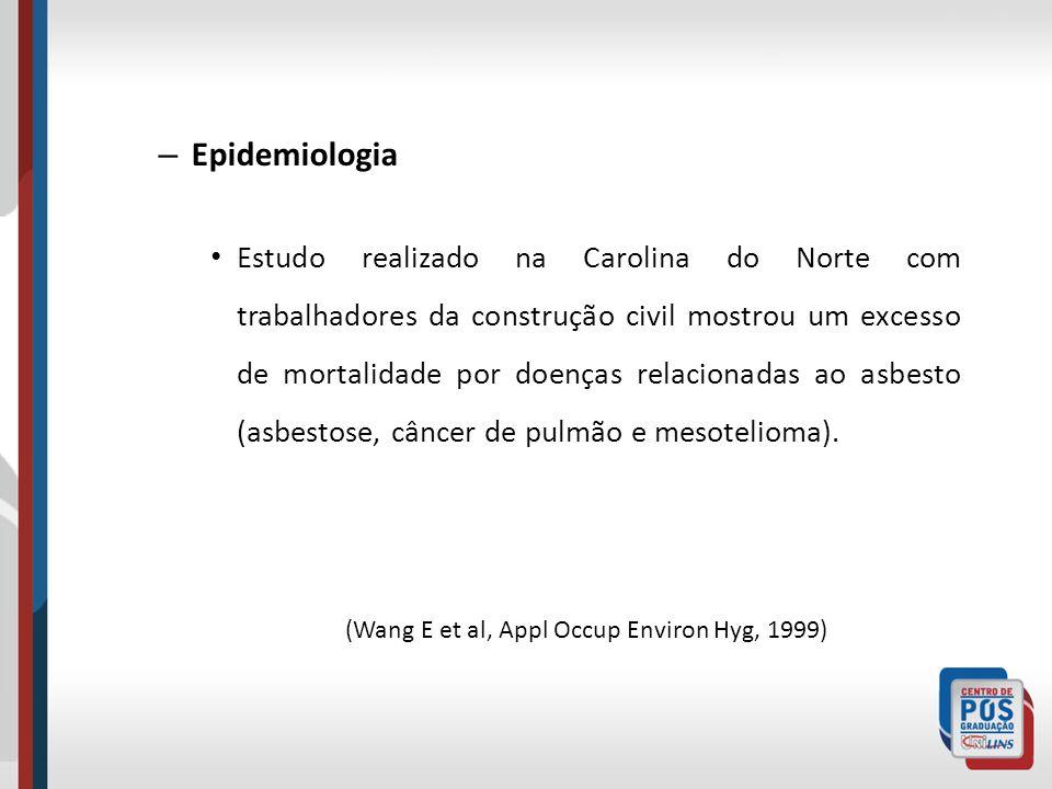 (Wang E et al, Appl Occup Environ Hyg, 1999)