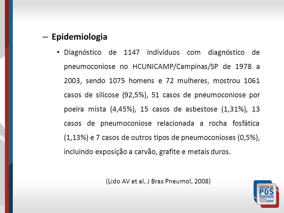 (Lido AV et al, J Bras Pneumol, 2008)