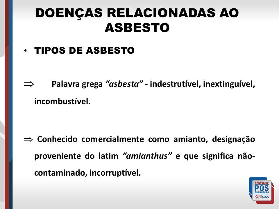 DOENÇAS RELACIONADAS AO ASBESTO