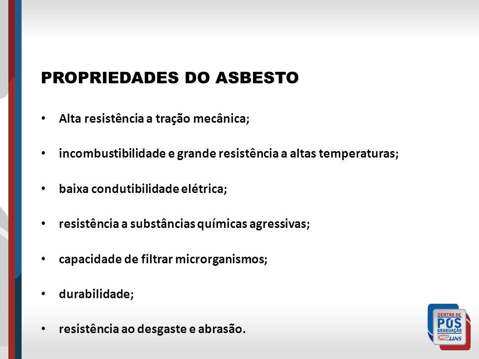 PROPRIEDADES DO ASBESTO