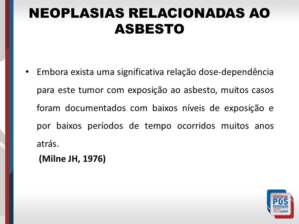 NEOPLASIAS RELACIONADAS AO ASBESTO