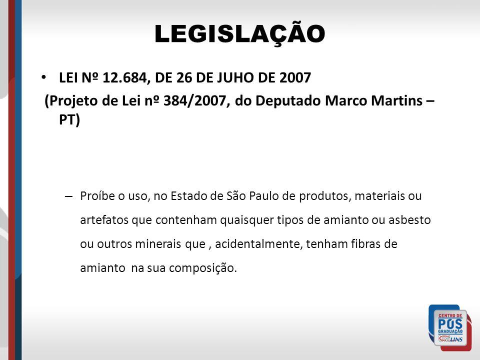 LEGISLAÇÃO LEI Nº 12.684, DE 26 DE JUHO DE 2007