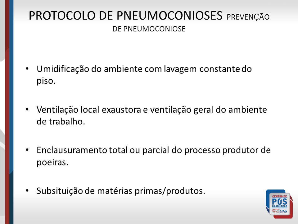 PROTOCOLO DE PNEUMOCONIOSES PREVENÇÃO DE PNEUMOCONIOSE