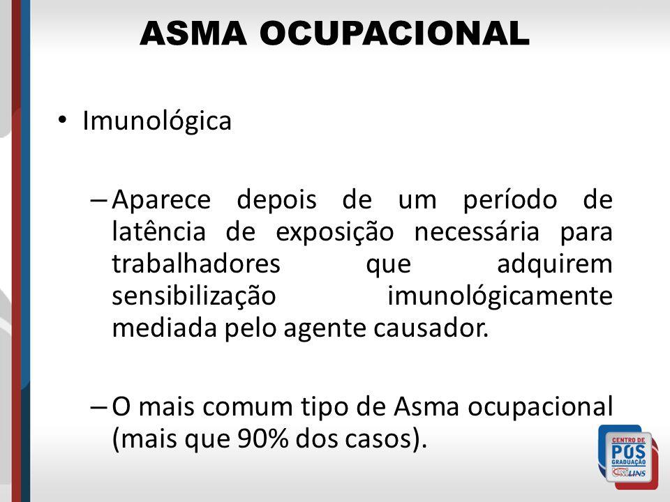 ASMA OCUPACIONAL Imunológica