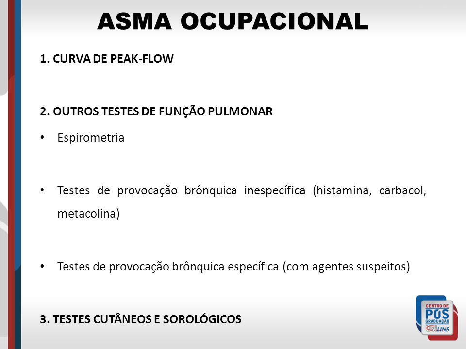 ASMA OCUPACIONAL 1. CURVA DE PEAK-FLOW