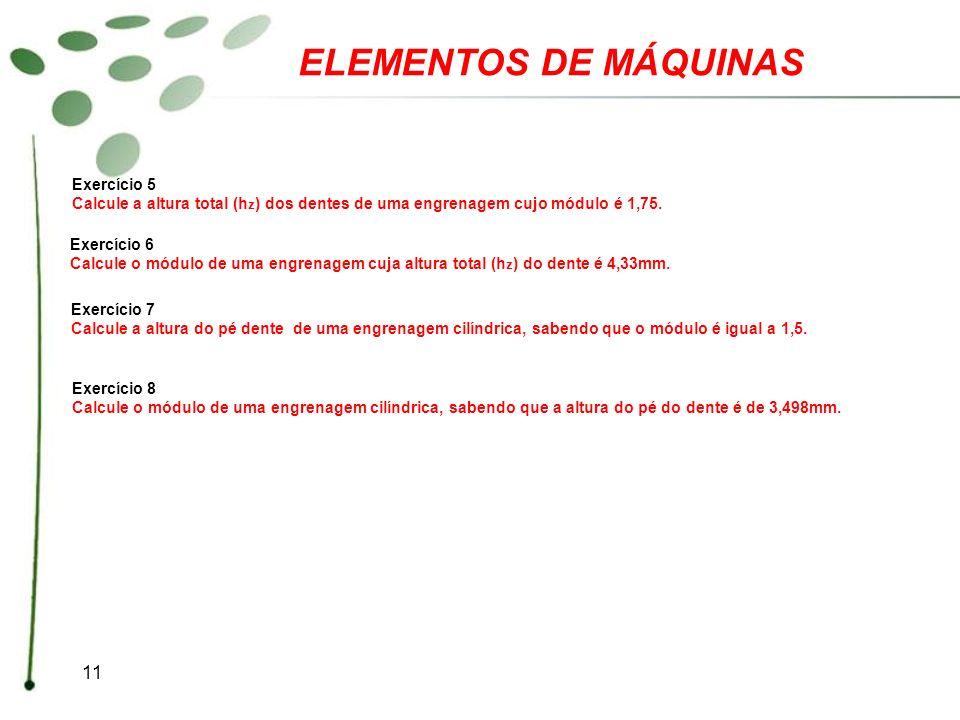 ELEMENTOS DE MÁQUINAS Exercício 5