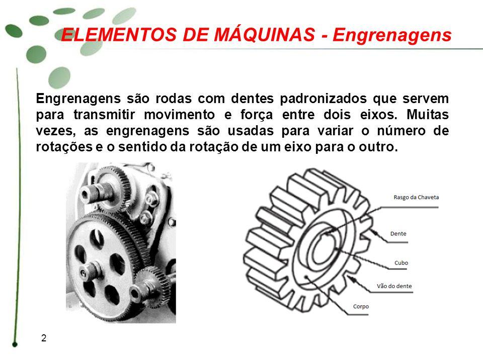 ELEMENTOS DE MÁQUINAS - Engrenagens