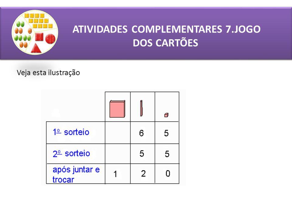 ATIVIDADES COMPLEMENTARES 7.JOGO DOS CARTÕES