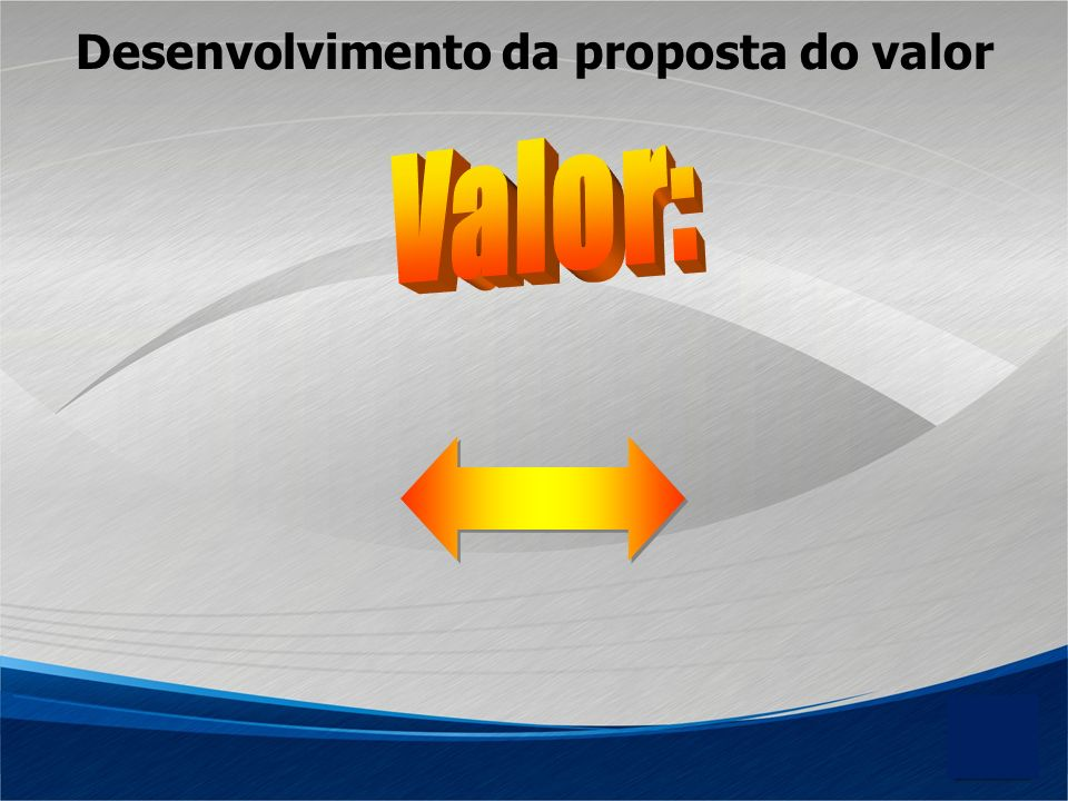 Desenvolvimento da proposta do valor