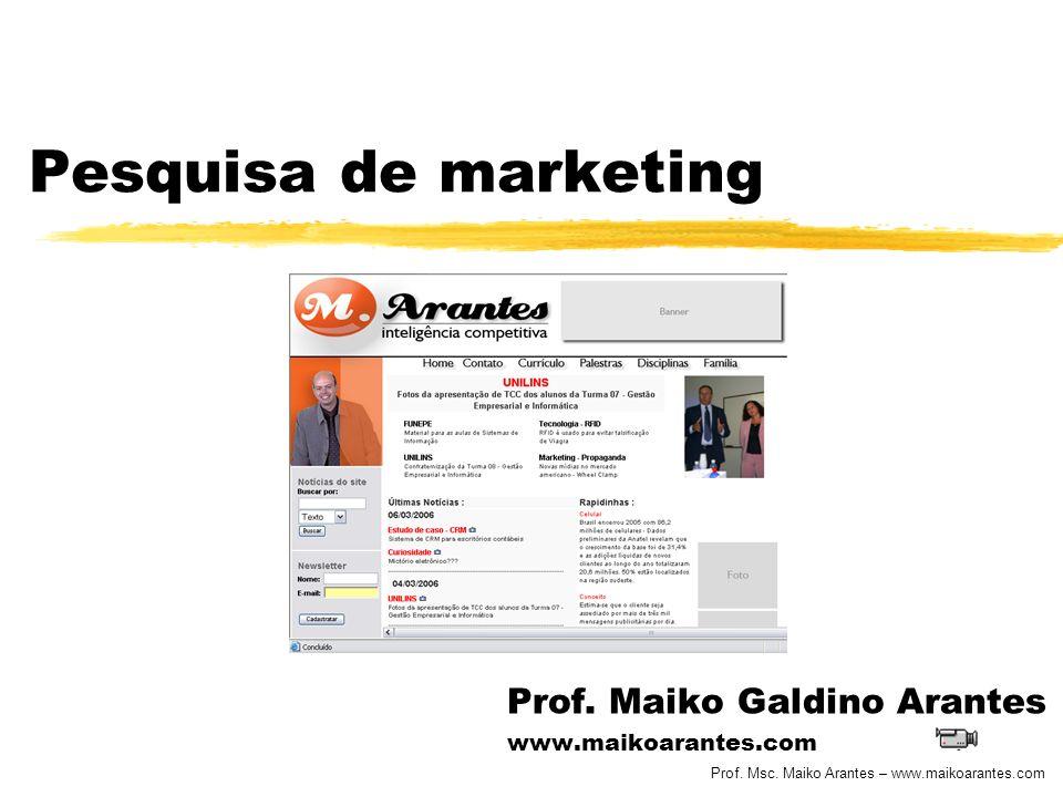 Prof. Maiko Galdino Arantes www.maikoarantes.com