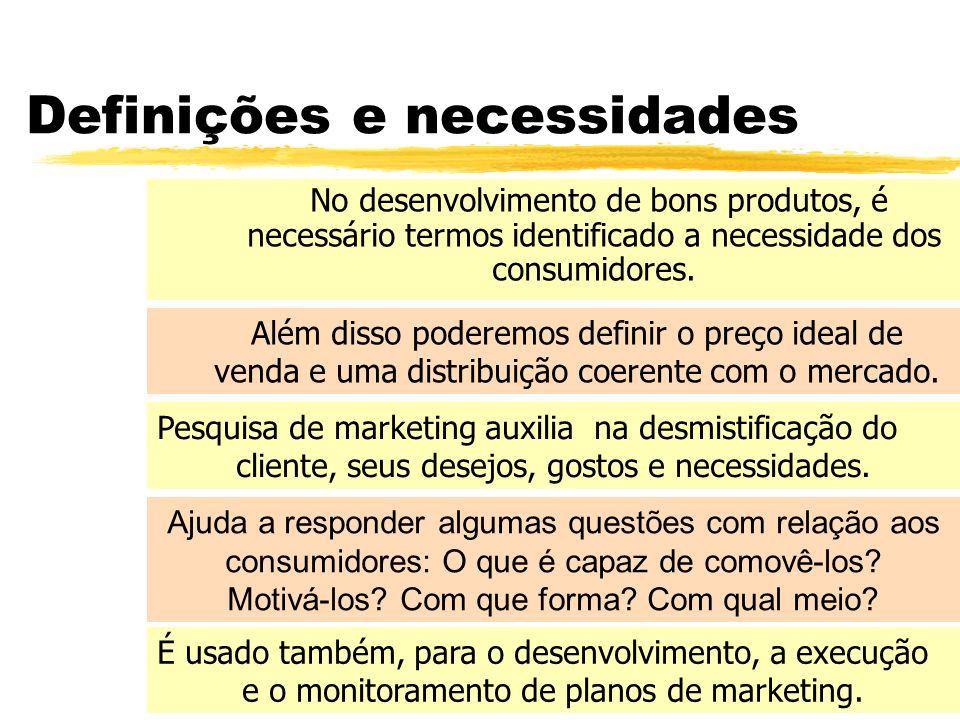 Definições e necessidades
