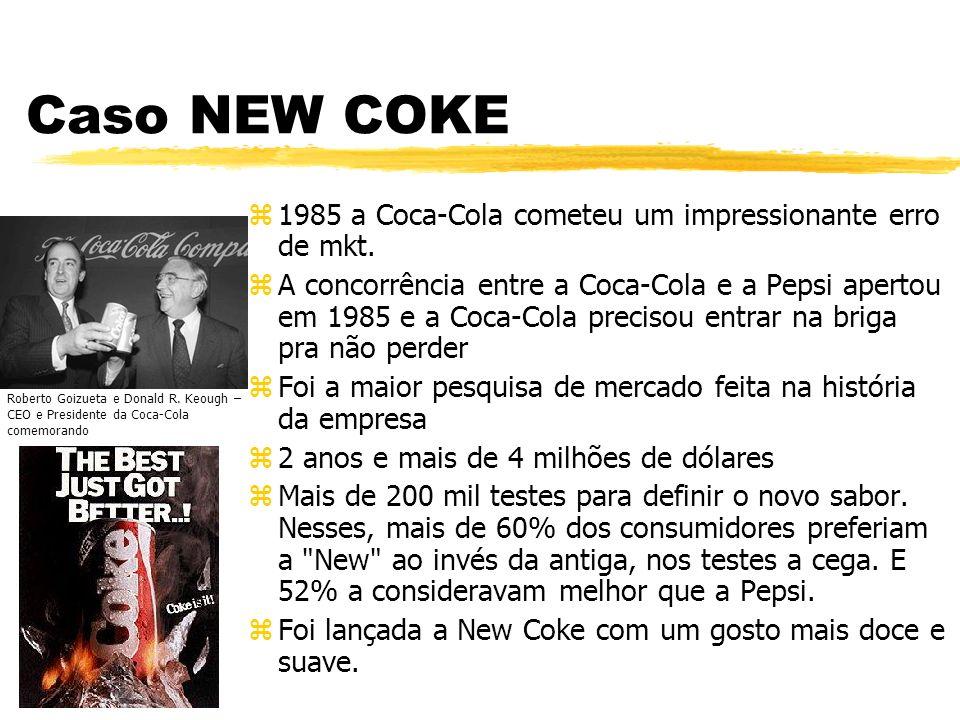 Caso NEW COKE 1985 a Coca-Cola cometeu um impressionante erro de mkt.
