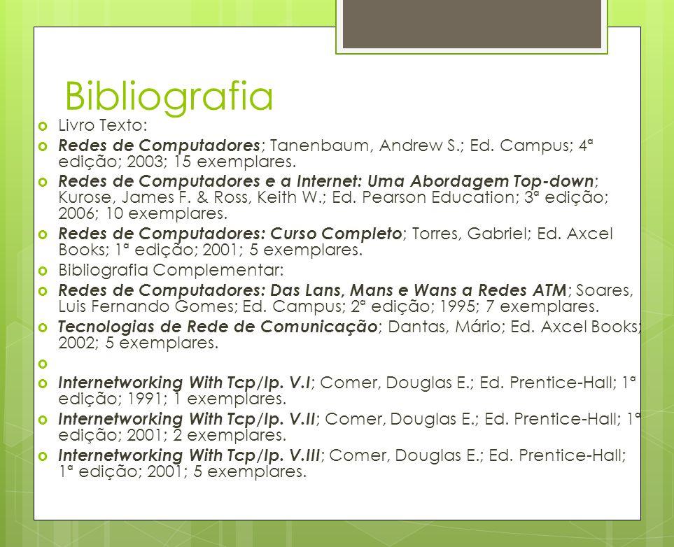 Bibliografia Livro Texto: