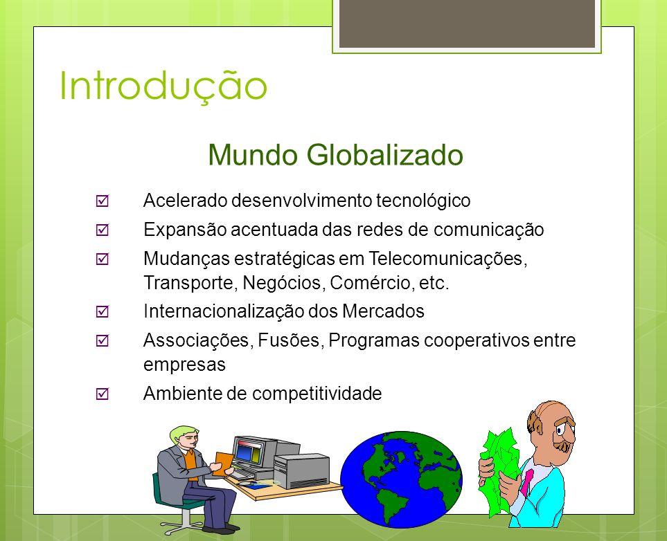 Introdução Mundo Globalizado Acelerado desenvolvimento tecnológico