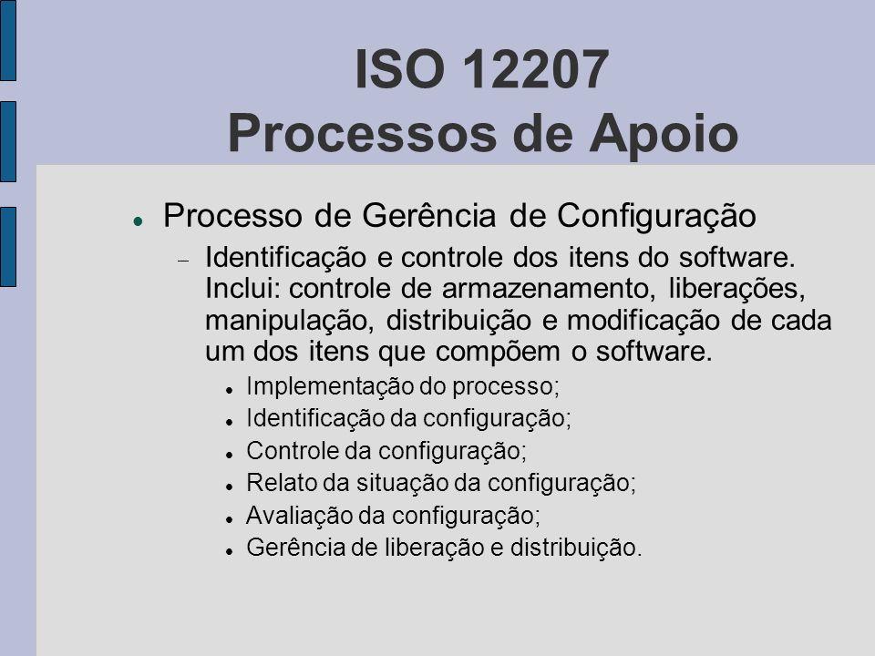 ISO 12207 Processos de Apoio Processo de Gerência de Configuração