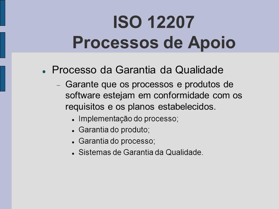 ISO 12207 Processos de Apoio Processo da Garantia da Qualidade