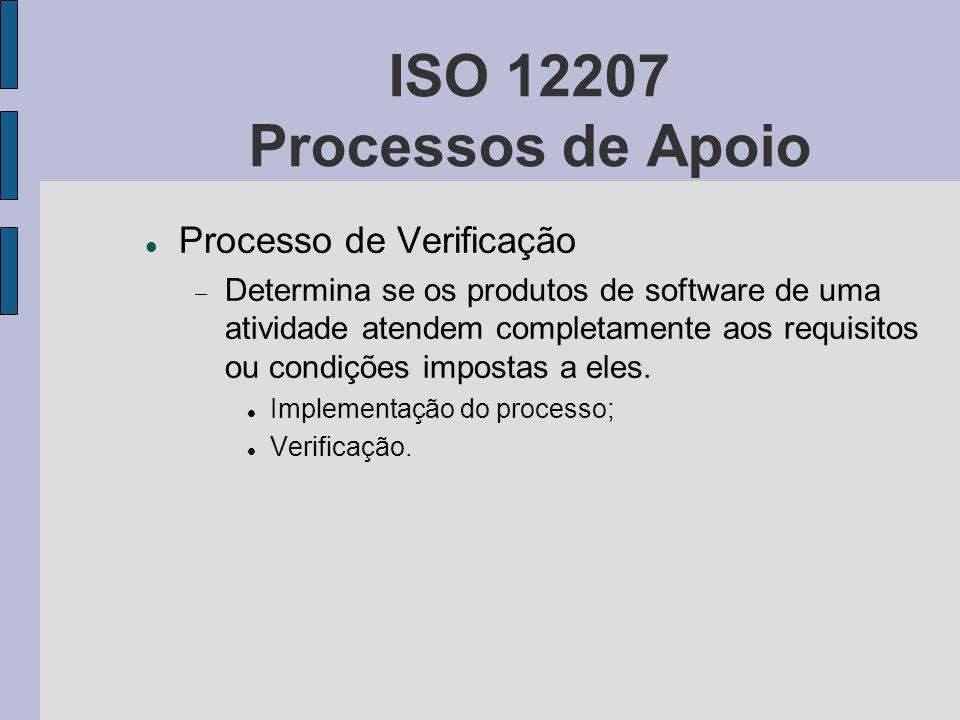 ISO 12207 Processos de Apoio Processo de Verificação