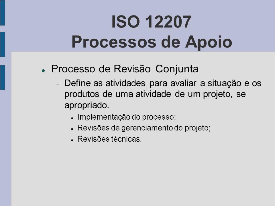 ISO 12207 Processos de Apoio Processo de Revisão Conjunta