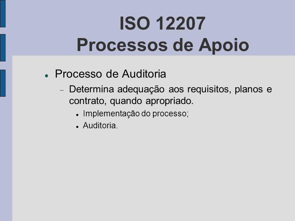 ISO 12207 Processos de Apoio Processo de Auditoria